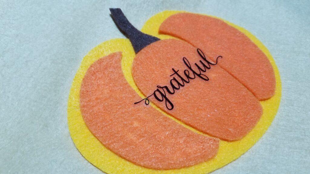 grateful sticker on pumpkin