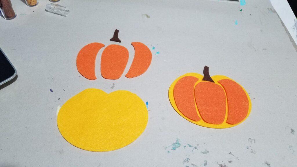 felt pieces for pumpkin