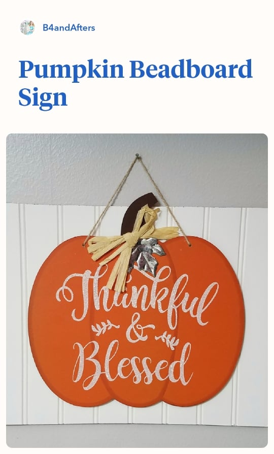 dollar tree pumpkin sign