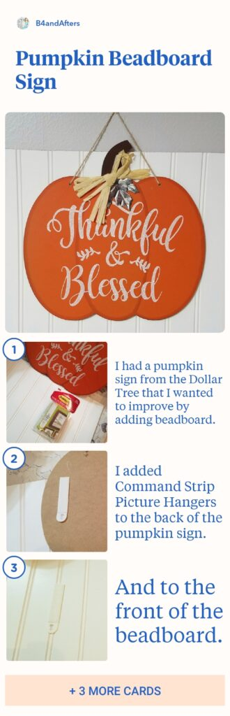 Pumpkin Beadboard Sign infographic