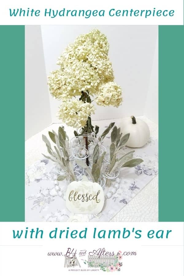 white hydrangea centerpiece graphic