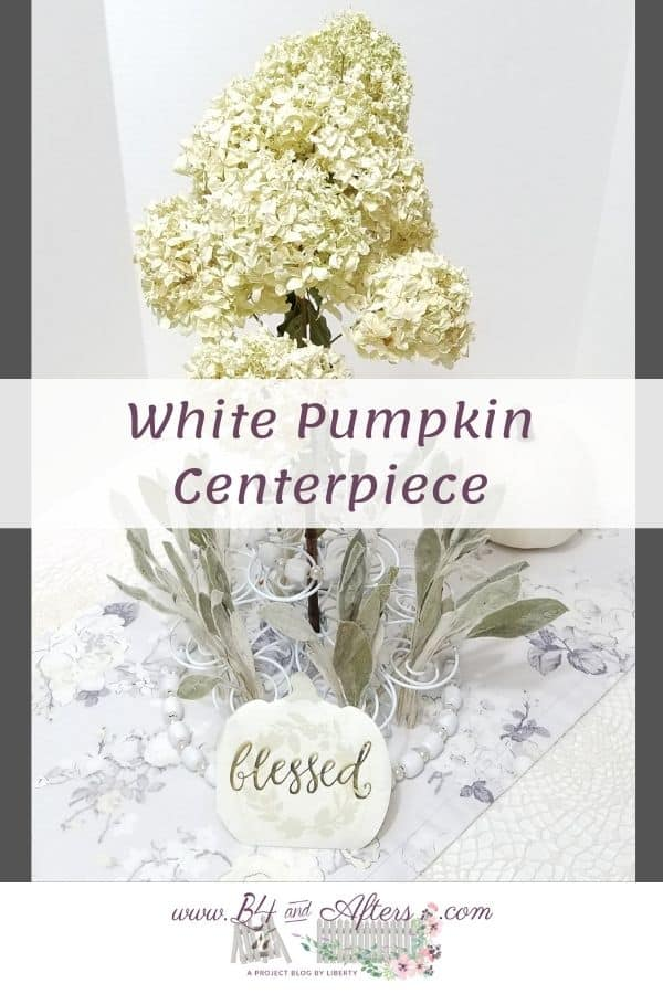 white pumpkin centerpiece graphic