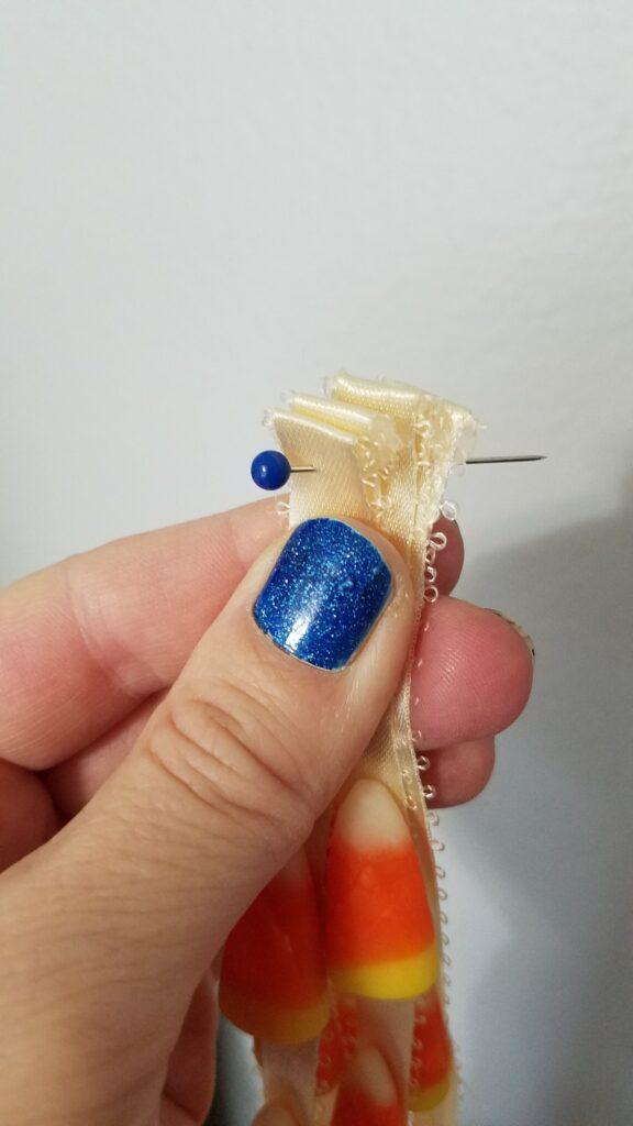 pin through several ribbons all at once