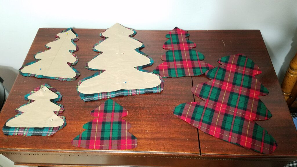 paper patterns to cut out fabric trees