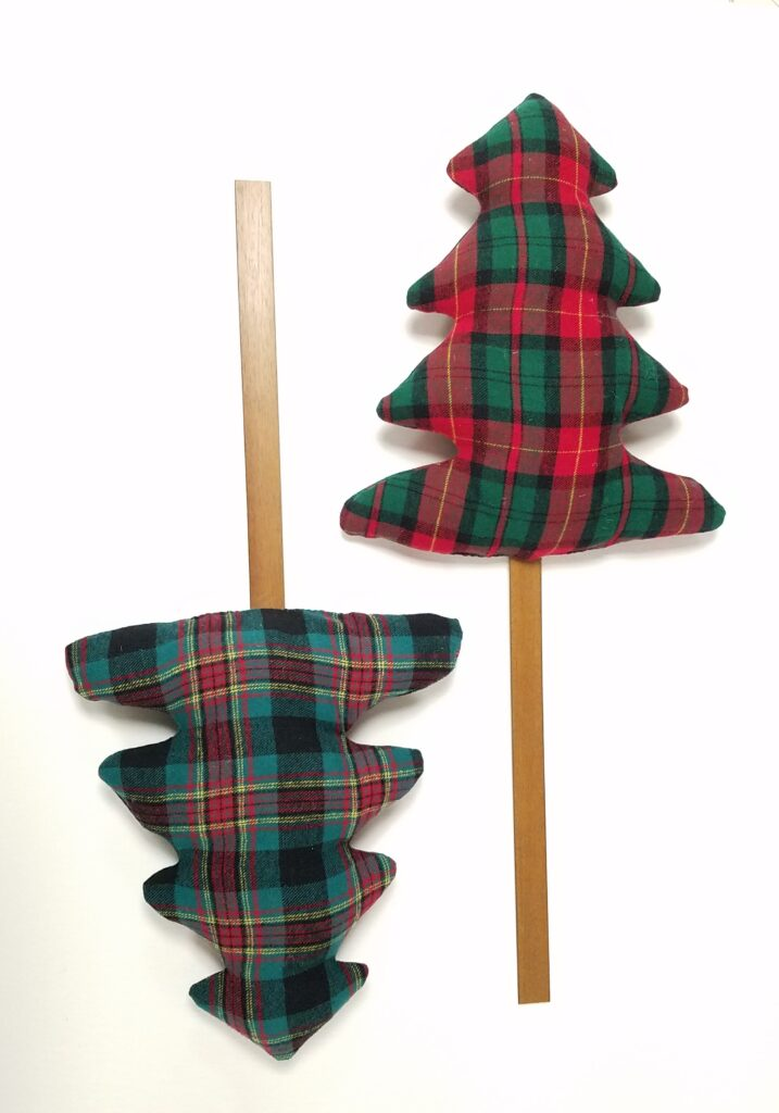 2 fabric trees