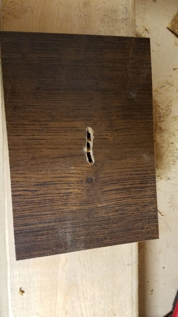 long hole in wood