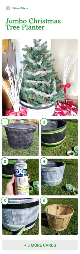 Christmas tree in a barrel step by step