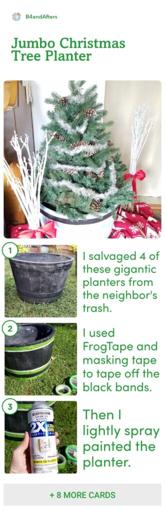 Christmas barrel planter picture step by step