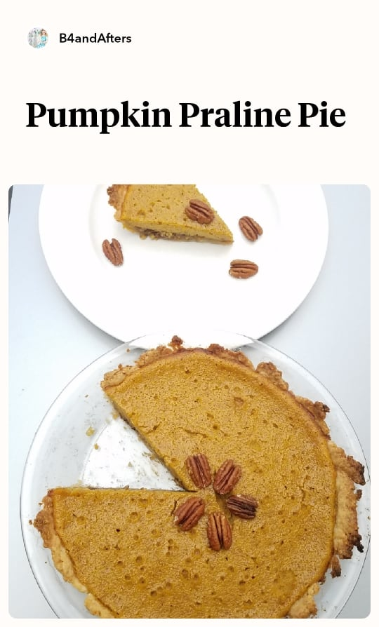 pumpkin praline pie graphic