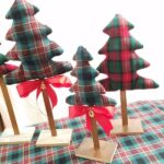3 fabric table top trees