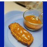 pumpkin butter on pumpkin bread graphic