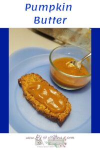 pumpkin butter on pumpkin bread graphic