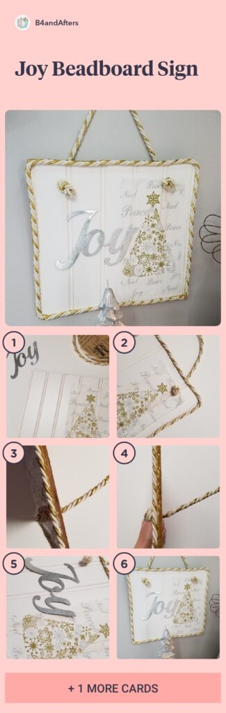 DIY beadboard sign with step by step pictures
