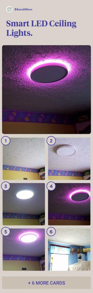 smart LED ceiling lights