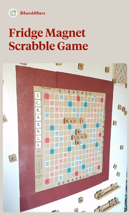scrabble on fridge