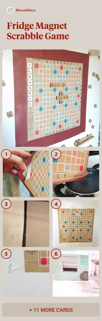 step by step instructions of scrabble game on fridge