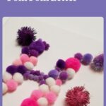 pink and purple Pom Pom Letter H