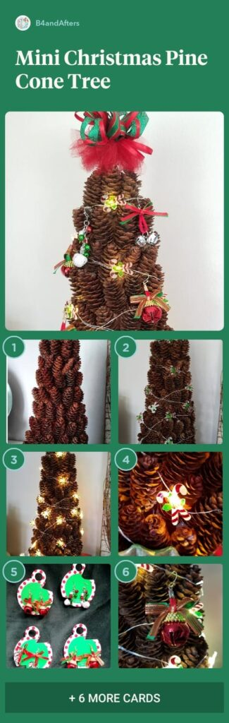 miniature Christmas tree with images step by step