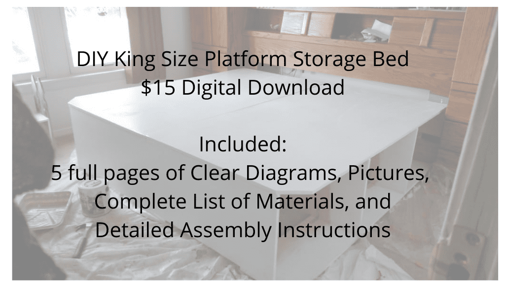 Digital Download to purchase plans for platform storage bed