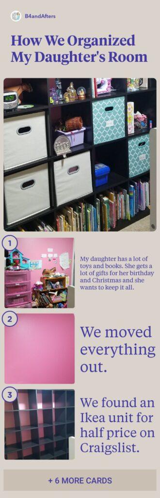 children's bedroom organization step by step