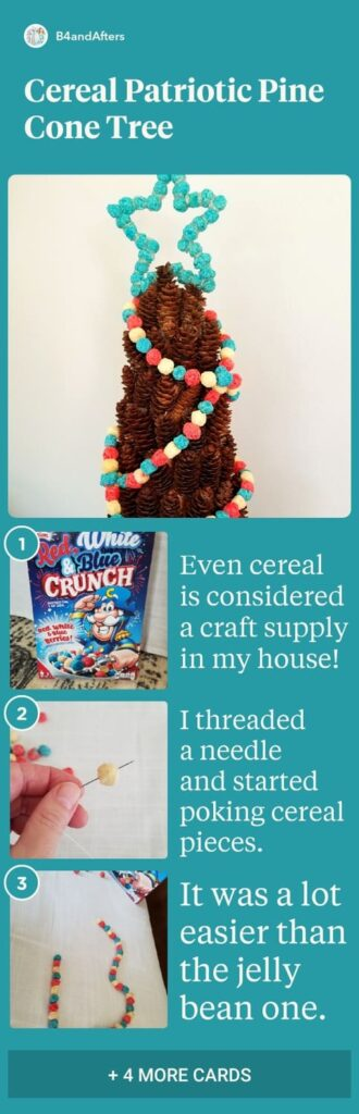 Cereal Garland step by step