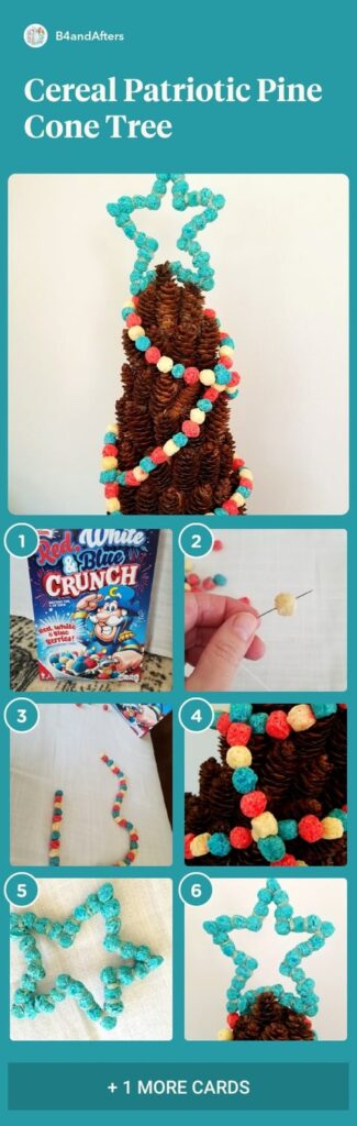 cereal garland step by step with pictures