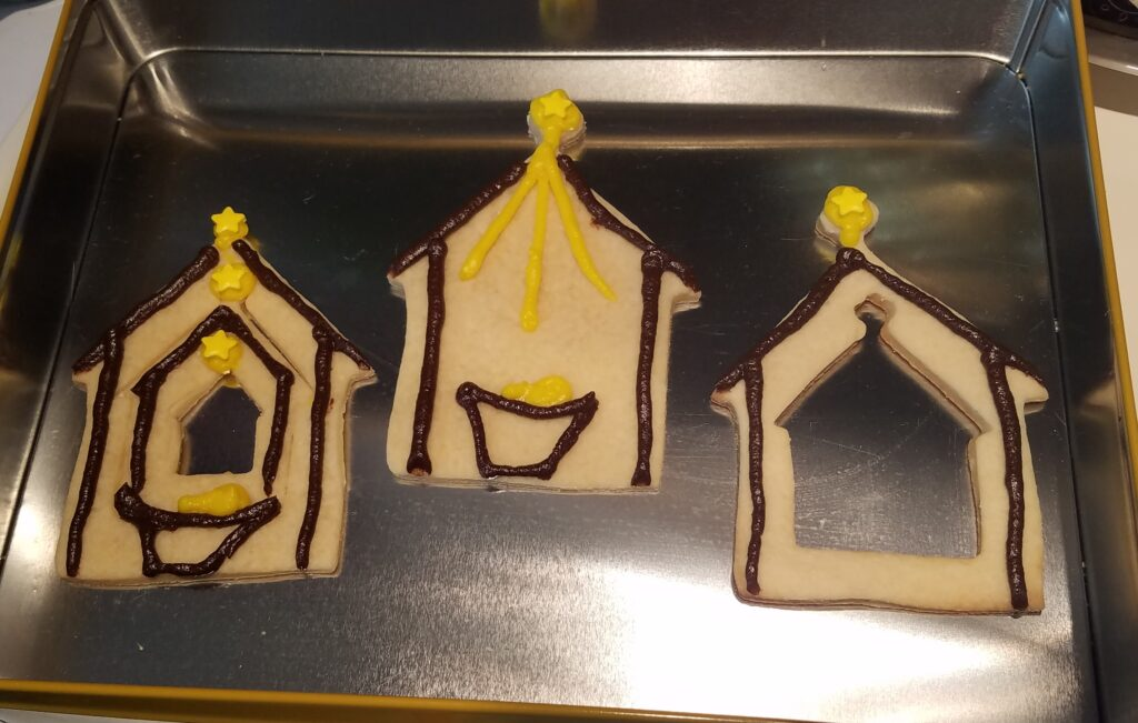 nativity stable cookie