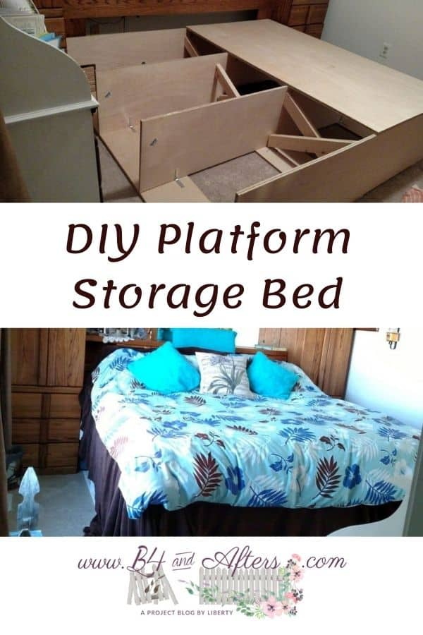 DIY storage bed