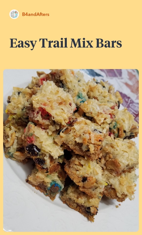 Easy Trail Mix bars