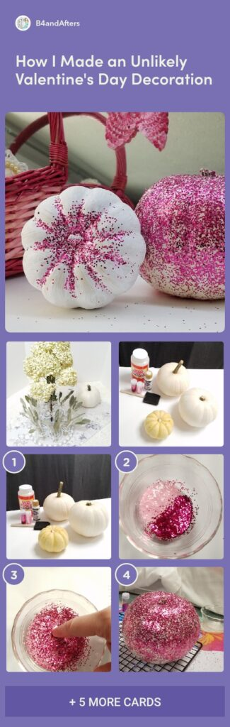 pink glitter pumpkins step by step tutorial with pictures