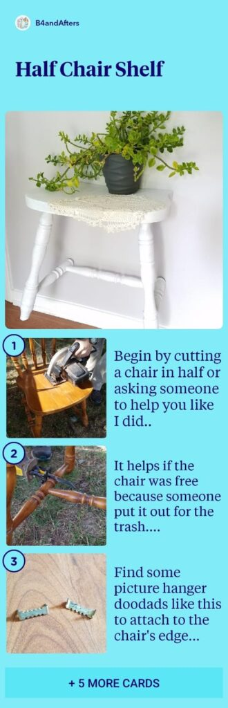 how to make a half chair shelf in pictures, step by step