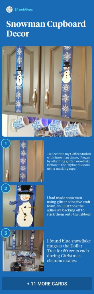 snowman themed kitchen decor step by step with pictures
