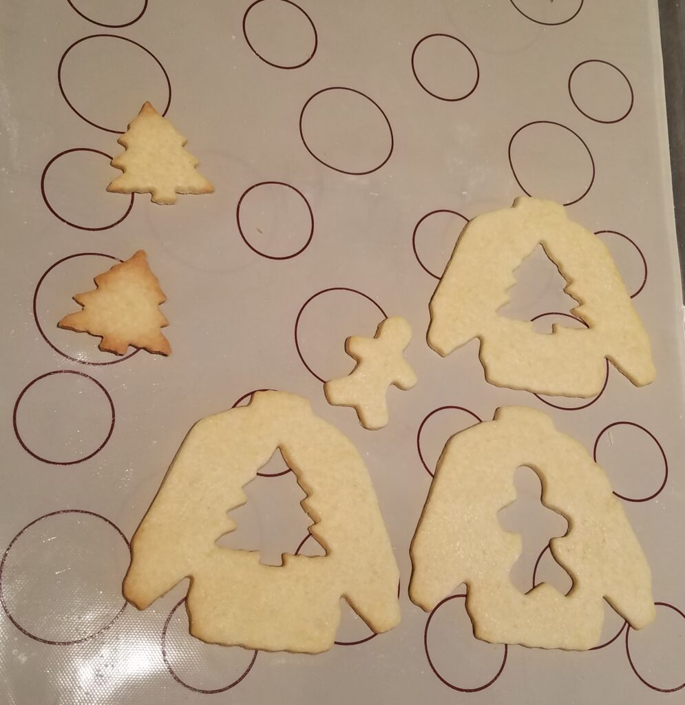 Christmas sweater cookie cut outs