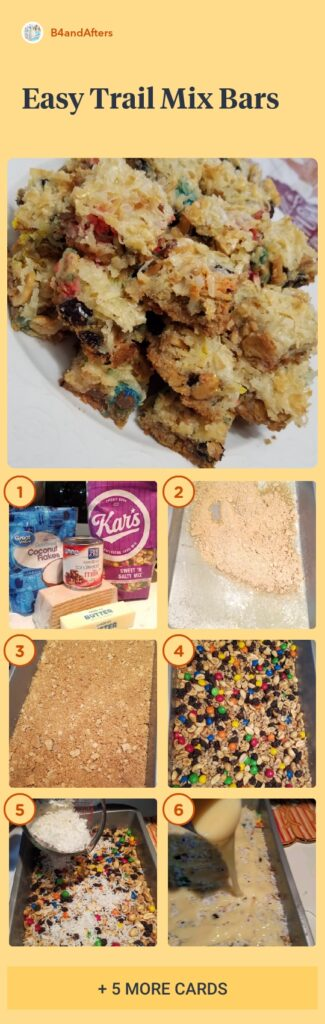 easy trail mix bars step by step