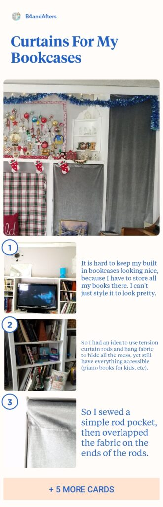 curtains for a bookcase step by step directions
