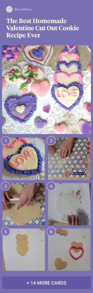 pink and purple valentine cookies step by step