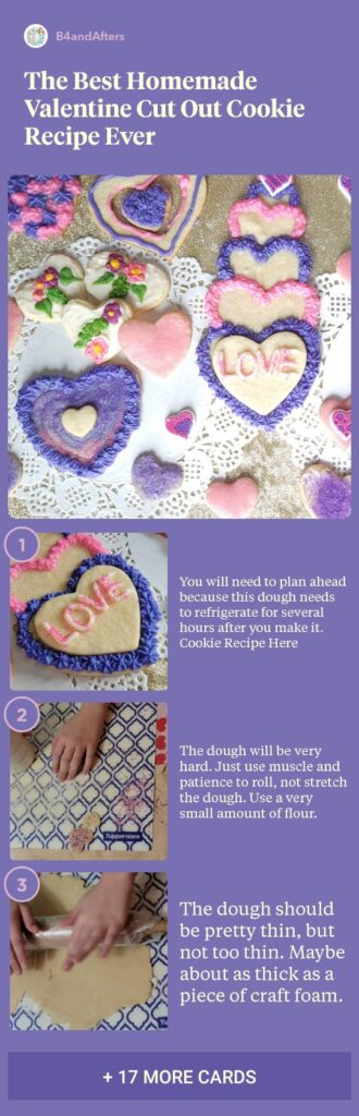 heart shaped cookies step by step directions