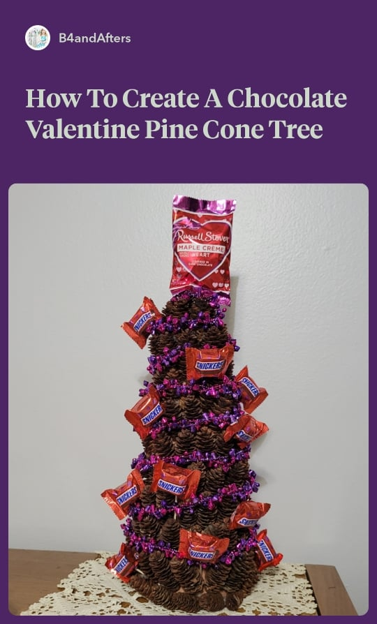 Wrapped Chocolate Pine Cone Tree