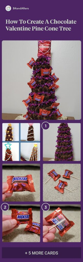 Valentine chocolate pine cone tree step by step