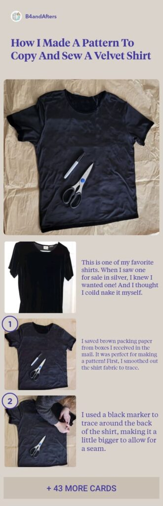 tutorial for making a shirt with step by step directions