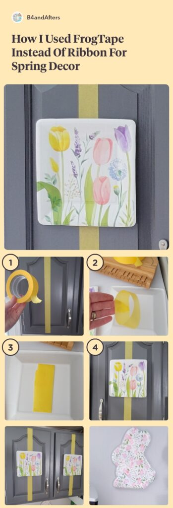 step by step decor with spring floral plate