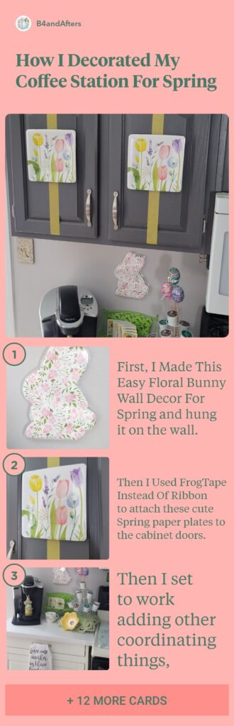 step by step decorating for spring