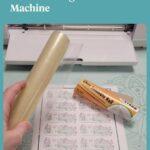 Sticker sheet with laminate roll and Cricut machine
