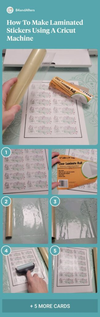how to make laminated stickers step by step in pictures