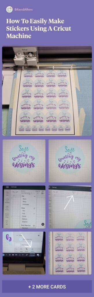 stickers step by step