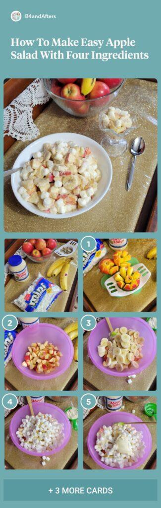 apple fruit salad step by step