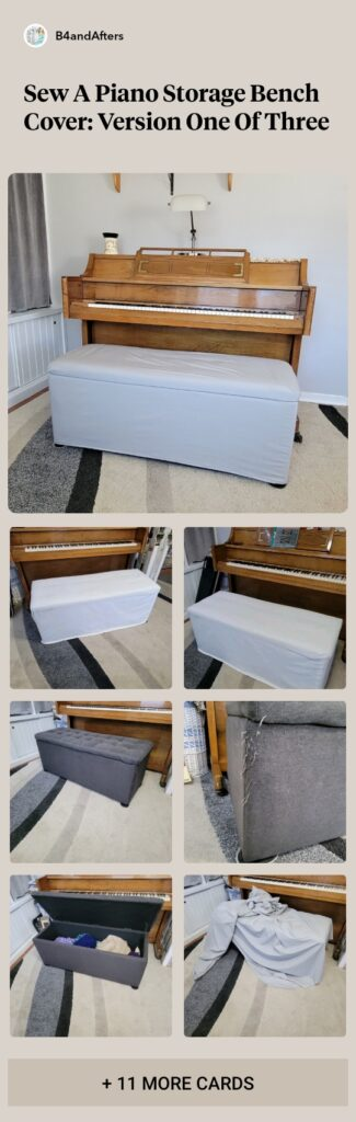2 piece storage bench cover picture collage step by step