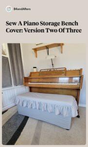 gray piano diy storage bench cover