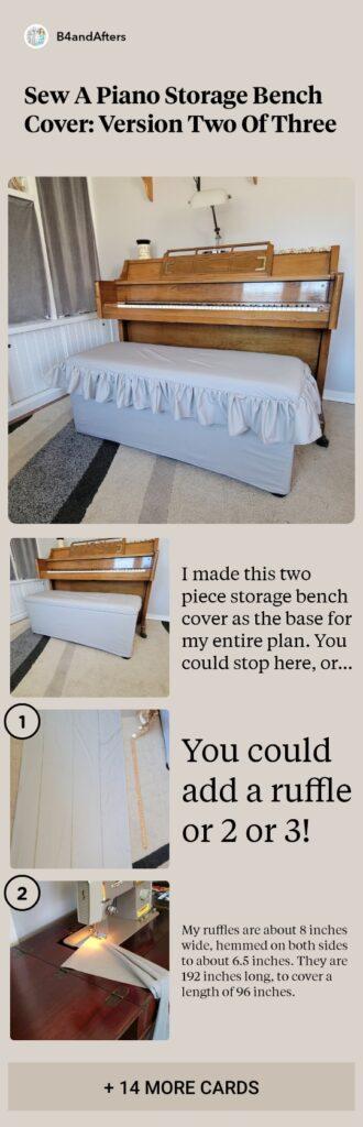 diy ruffled top bench cover