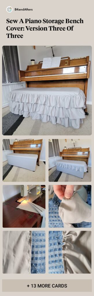 how to make a ruffled slipcover for a bench